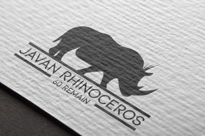 Javan Rhino Mockup Logo