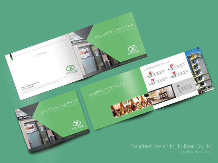Kaliber Brochure Green Base Color