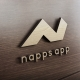 Napps Application Mockup Logo Design