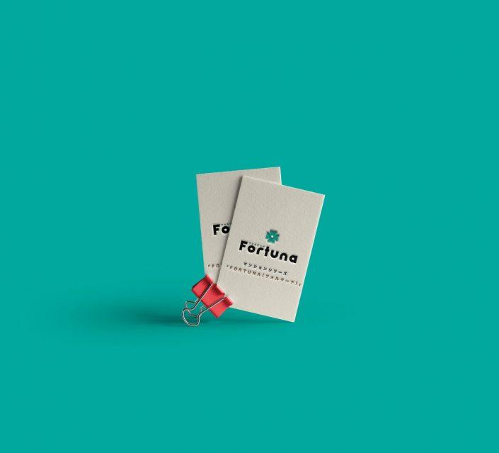Fortuna Logo Concept Business Cards