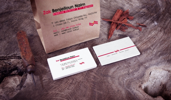 Crafted Business Card NAIMHOST NAIM BENJELLOUN GRAPHIC DESIGN