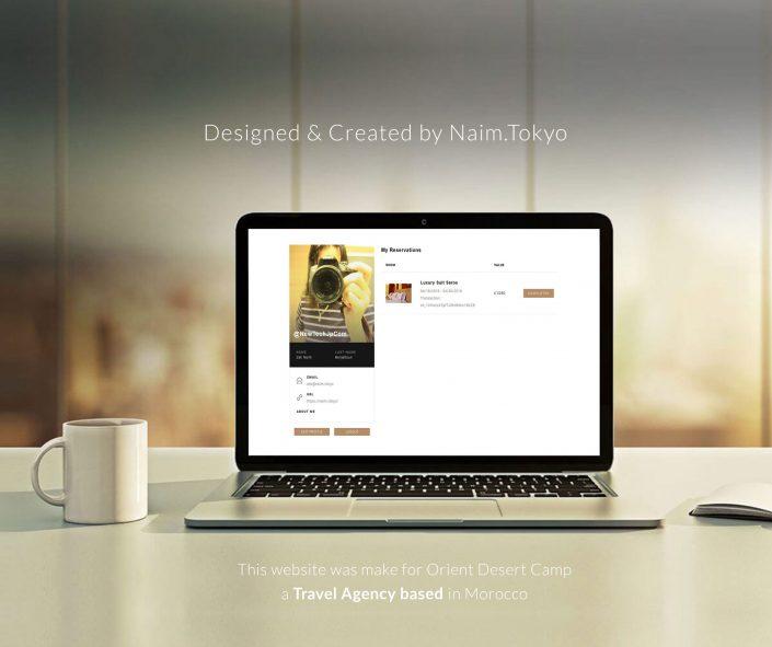 Orient Desert Camp Website Design